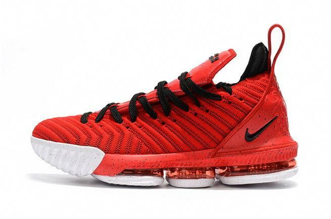 9cd23449cc7 Nike LeBron 16 Mens Basketball Shoes University Red Black   adidasbasketballshoes