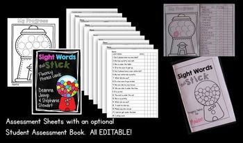 DOLCH WORD PHRASES FOR FLUENCY PRACTICE AND ASSESSMENT [EDITABLE} -Sight Words Dolch Words Fluency phrases. I've teamed up with Stephanie Stewart from Falling into First to bring you this amazing resource.  Dolch words are some of the most frequently used words in the English language. The Dolch words comprise approximately 60-75% of what is printed in almost any piece of children's literature. These sight word sentence fluency cards cover the words on the Preprimer and Primer lists.