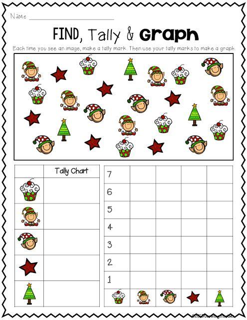 FREEBIE - Find, Tally & Graph - Christmas