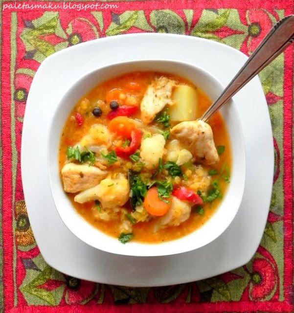 Paleta Smaku: Rozgrzewająca zupa z soczewicy z kalafiorem - w dwóch wersjach