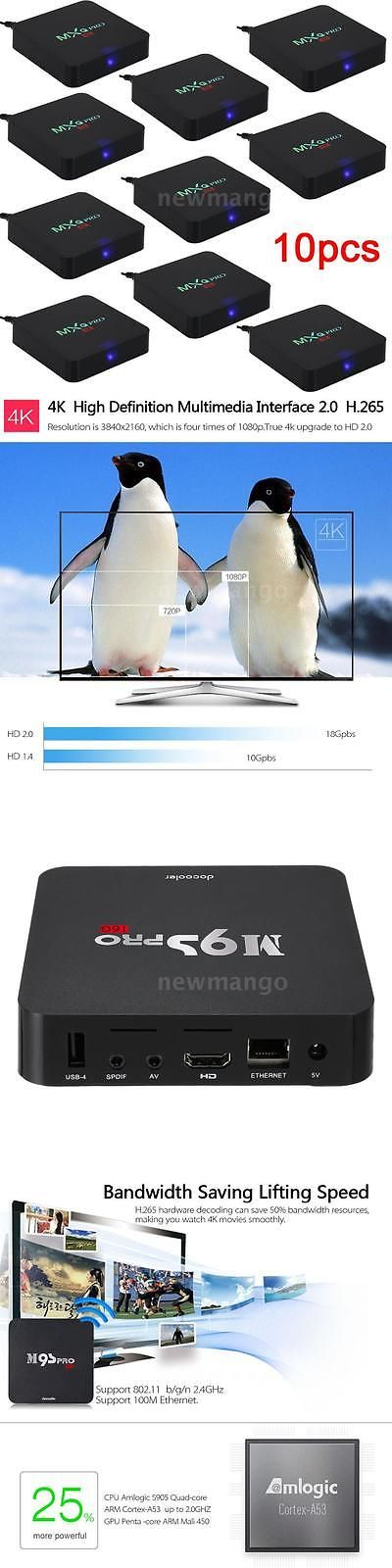 Cable TV Boxes: 10X Quad Core 2G/16G Smart Ott Android5.1 Tv Box 4K Player Streamer Fully Loaded BUY IT NOW ONLY: $379.95