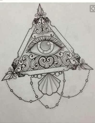 Cute aesthetic triangle illuminati tattoo sketch                                                                                                                                                     More