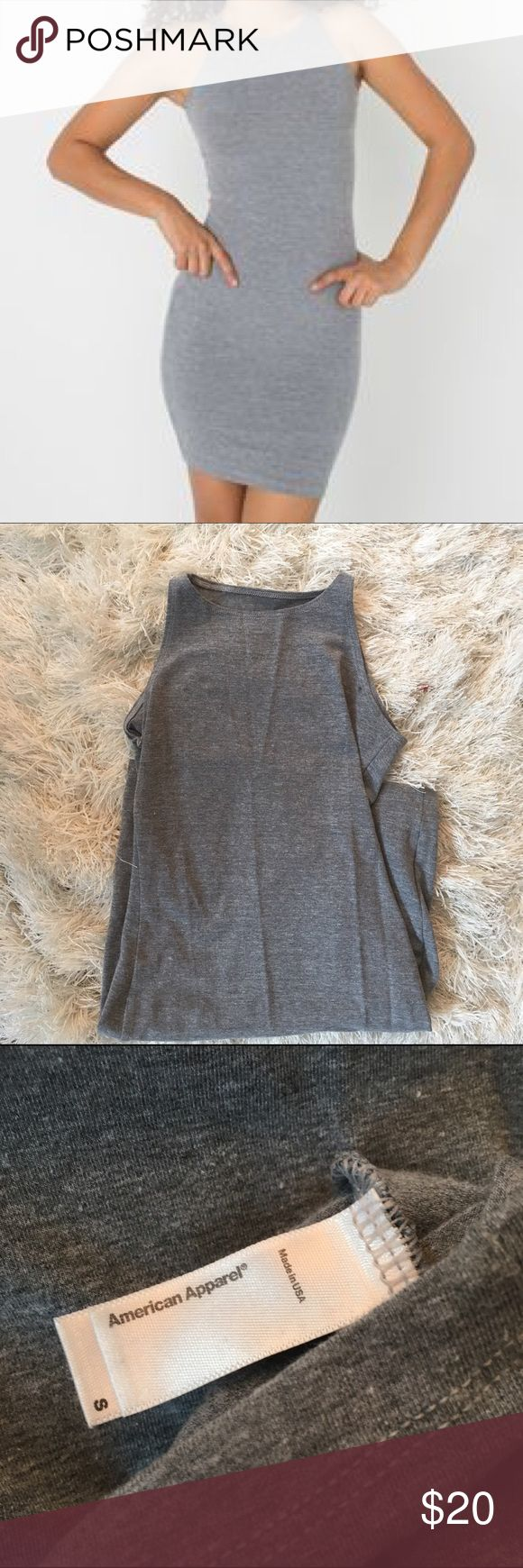 American Apparel Grey Bodycon Dress. Size S American apparel high neck bodycon dress. Perfect condition worn once American Apparel Dresses