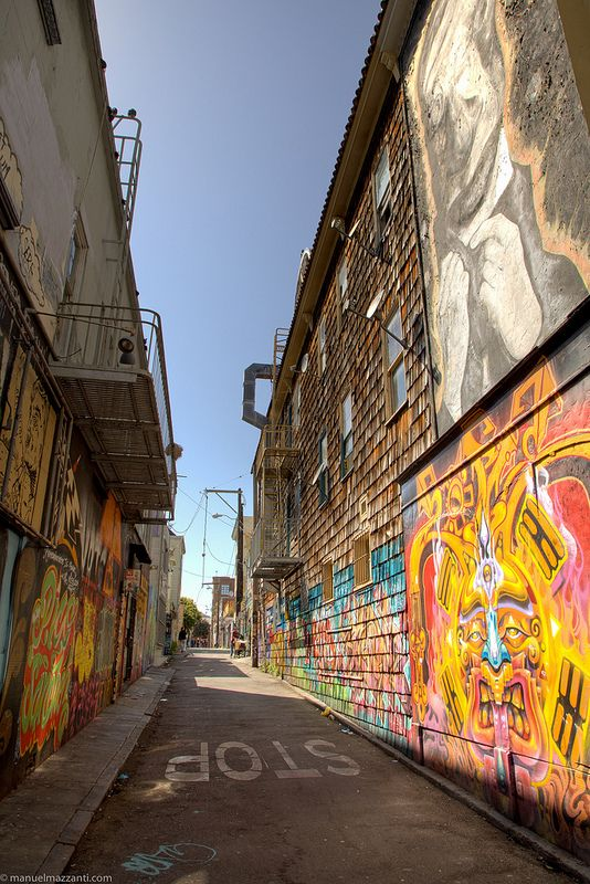 Clarion Alley. Mission District, San Francisco