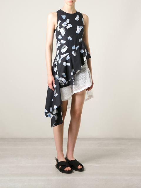 Kenzo Vestido Asimétrico Estampado - Julian Fashion - Farfetch.com