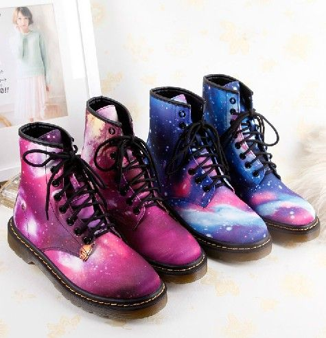 Harajuku Psychedelic Leather Motorcycle Anklet Boots
