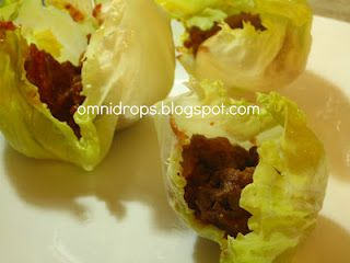 Omni Drops HCG Phase 2 Sloppy Joe lettuce cups. Highly recommend. This is one of my favorite phase 2 meals. If your interested in learning more about omnitrition contact omnitrition.com/tenica