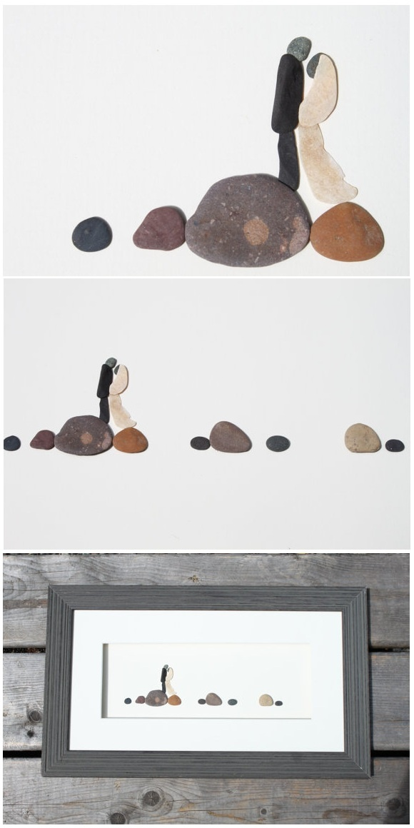Pebble Art on Etsy...these are so neat-no painting but true art.