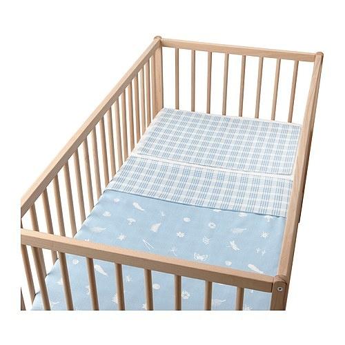 Lovely baby bedding, imo for both baby boys and girls. VANDRING SKOG Påslakan 1 örngott för spjälsäng - ljusblå - IKEA