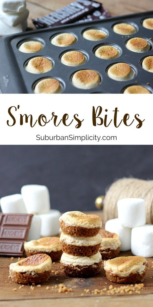 Looking for a yummy dessert recipe idea everyone loves? Try these tasty little S'mores Bites! They're easy to make in your oven, no campfire required!