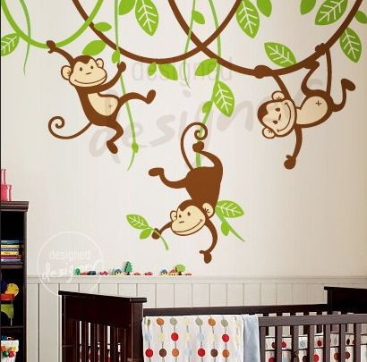 Monkey Bedroom Wall Decals