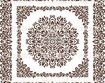 Stencil Damasco floreale classico disponibile di CreativeStencils