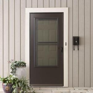 Emco 32 in x 80 in 200 series bronze universal triple for New screen door home depot