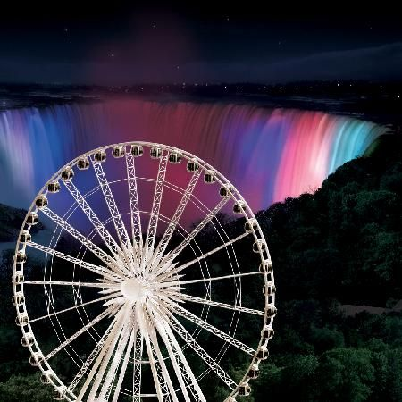 Niagara Falls Skywheel at Night