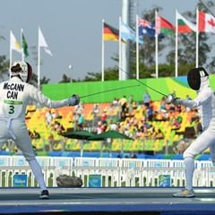 Fencing component of the Women's Olympic Modern Pentathlon