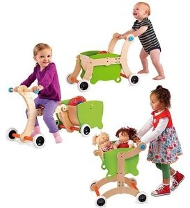 Amazon.com: 1-2-3 Grow With Me Wooden Walker/Ride-on Toy/Trolley: Toys & Games