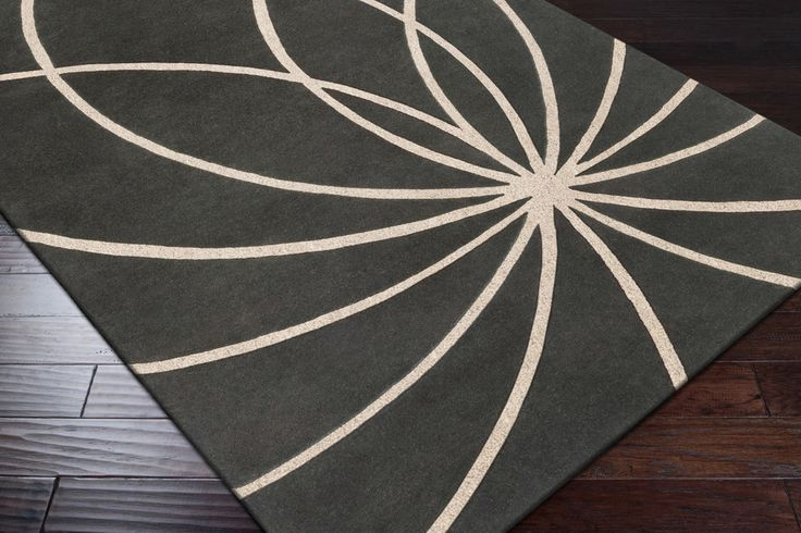 Forum Area Rug | Green Modern Rugs Hand Tufted | Style FM7173