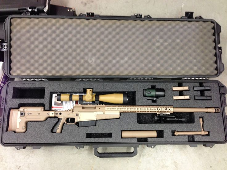 Gun Case Pelican 1750 with Custom Foam for an Accuracy International 338