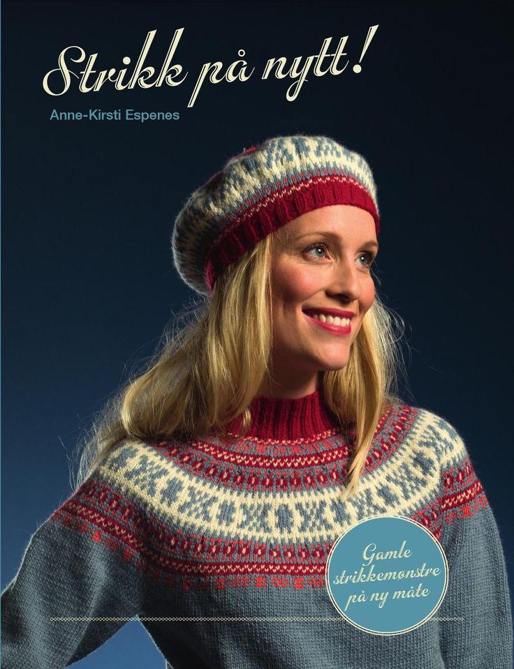 Strikk på nytt Gamle, norske strikkemønstre satt sammen i nye kombinasjoner. Resultatet er en serie strikkeplagg som fortsatt bærer tradisjonene i seg og gir gode retro-opplevelser, men samtidig formidler nye impulser.