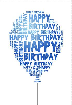 Happy birthday balloon - Free Printable Birthday Card