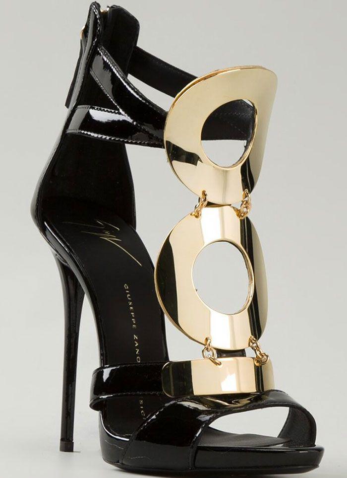 Giuseppe Zanotti Gold-Detailed Sandals