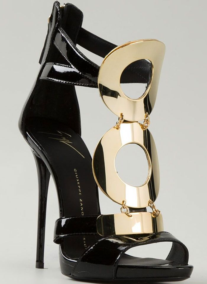 Giuseppe Zanotti Gold-Detailed Sandals