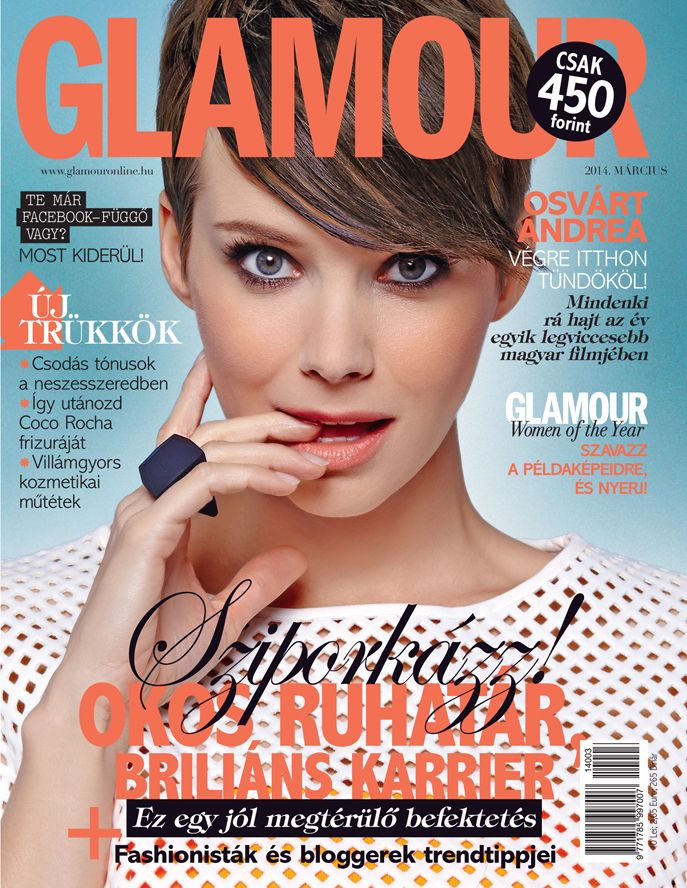 Andrea Osvárt, March 2014 issue, Photo by Norbert Zsólyomi
