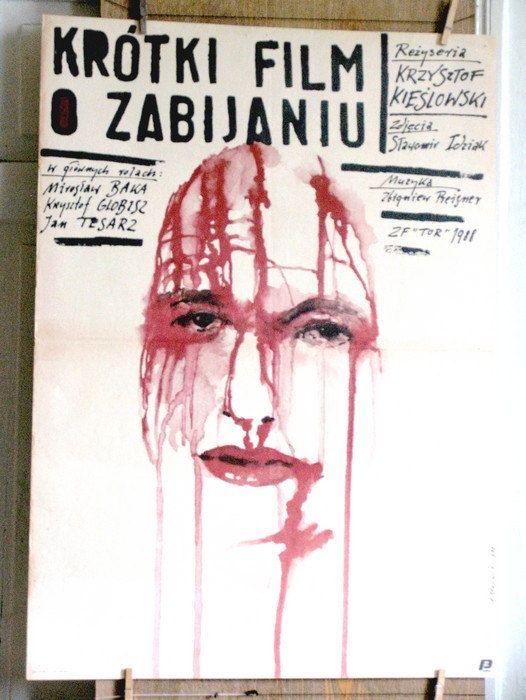 'A SHORT FILM ABOUT KILLING'. dir: Krzysztof Kieslowski.  Poster by: Andrzej Pagowski; $99.99