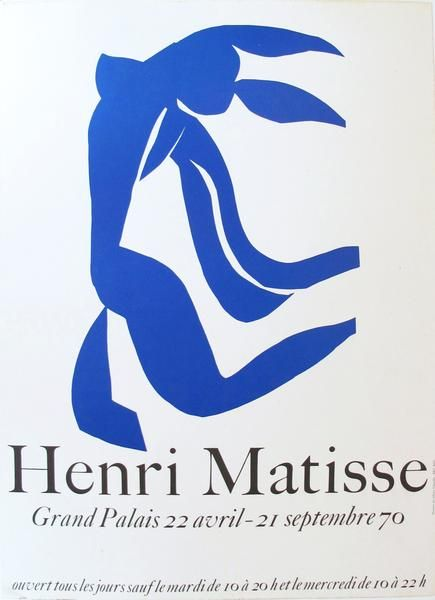 1970 Original French Matisse Exhibition Poster, Grand Palais Cut Out