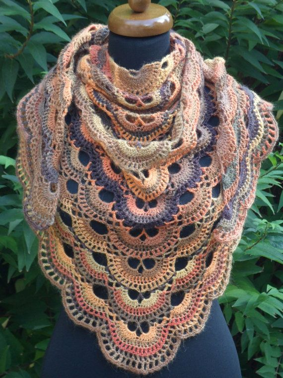 ❦◊ Crochet virus Shawl, Spring Crochet Wrap, Baktus Scarf, #Triangle shawl... Exclusive! http://etsy.me/2hcTHrk