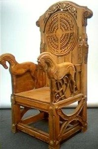 The throne of Rohan from Lord of the Rings