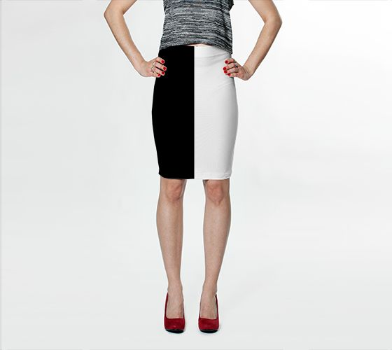 Duality Bodycon Skirt - Available Here: http://artofwhere.com/shop/product/56421