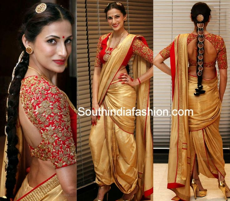 Shilpa Reddy in Dhoti Saree ~ Celebrity Sarees, Designer Sarees, Bridal Sarees, Latest Blouse Designs 2014