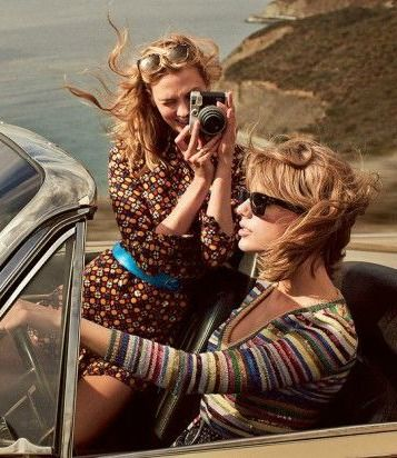 Karlie Kloss and Taylor Swift for Vogue US March 2015 - Saint Laurent