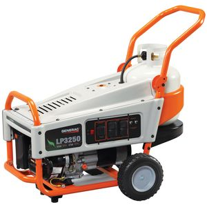 Generac LP3250 3,250 Watt Propane Powered Portable Generator