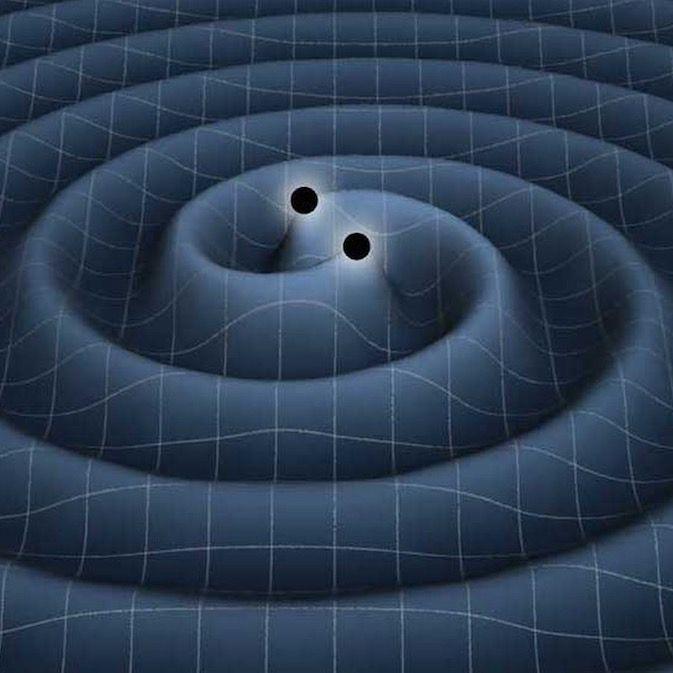 ONDAS GRAVITATORIAS DETECTADAS// Se ha dado a conocer al mundo entero comprobación en un experimento, sofisticado, de alta tecnología, algo teóricamente establecido por Albert Einstein hace ya casi un siglo en su Teoría General Relativista. El tiempo y el espacio según esta, es urdimbre cual en malla estirada que se deforma en presencia de masas mayor cuanto ello mayor sea, si alguna otra se acerca más pequeña…—…