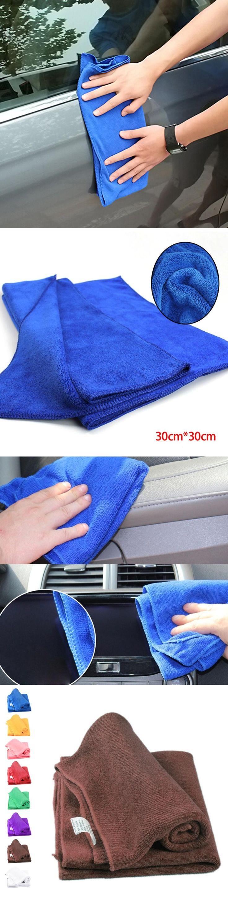 1pcs cheap sale cleaning cloths 22*22cm Microfiber Face Hair Clean Car polishing Streak-Free Towel