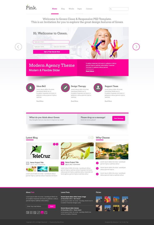 Website Layout Template 20 Best Website Psd Templates Images On Pinterest  Design Web