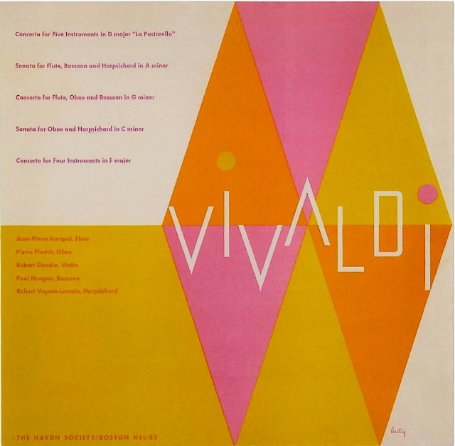 Vivaldi   Cover by Alvin Lustig 1952. Great vintage cover - it really gives us the sense of the musica rhythm!! (MODERNIST GRAPHIC DESIGN USA)