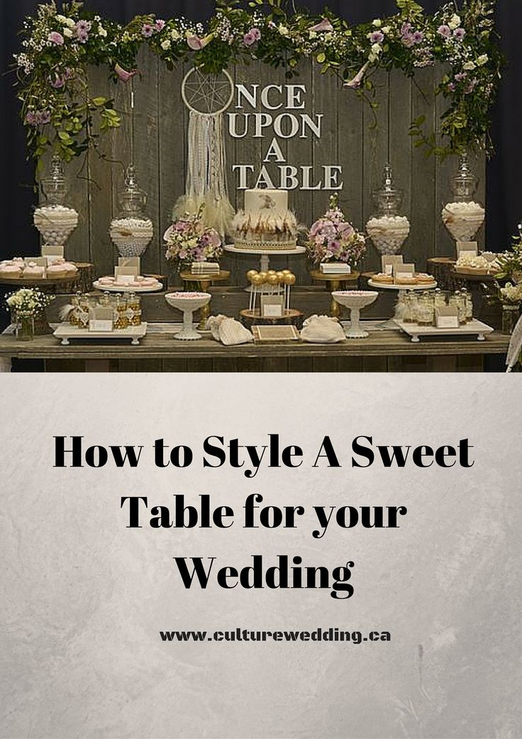 How to style a beautiful Candy and dessert bar  http://www.culturewedding.ca/style-sweet-table-wedding/