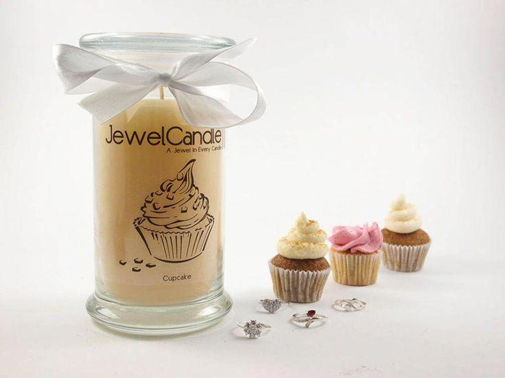 Bougie au parfum de Cupcake avec une bague en argent | JewelCandle.fr