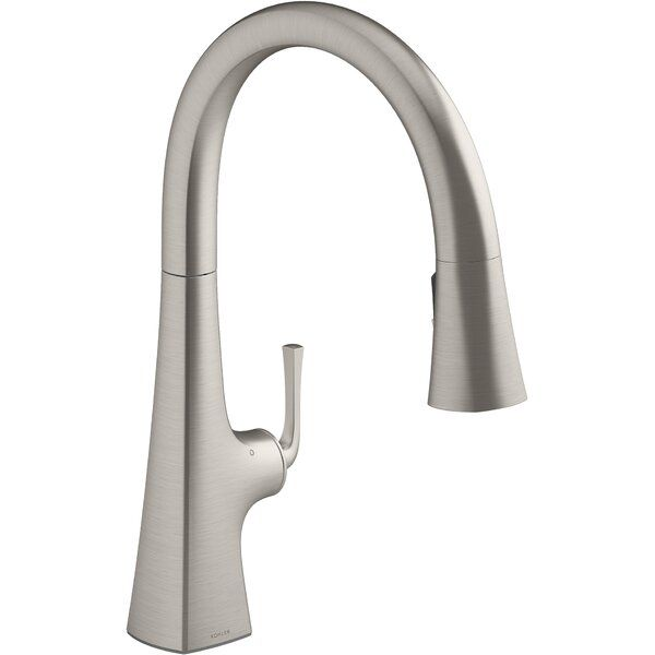 Graze Touchless Pull Down Kitchen Sink Faucet With Three Function Sprayhead In 2020 Kitchen Faucet Kitchen Sink Faucets Touchless Kitchen Faucet