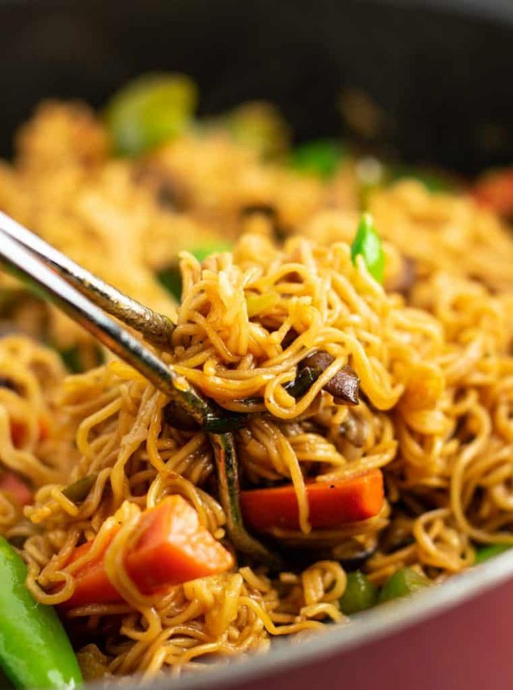 Vegetable Stir Fry Noodles Recipe With Images Ramen Recipes