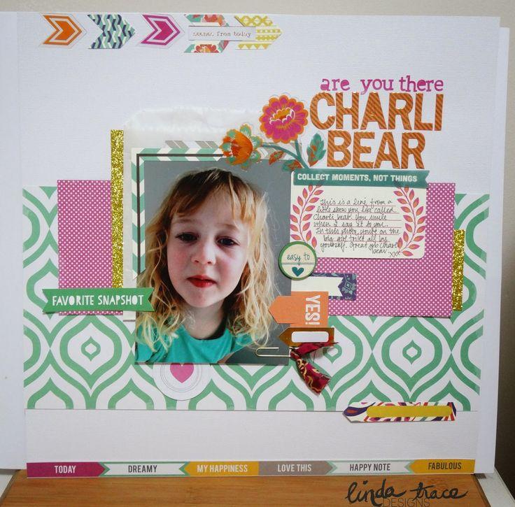 Scrappy Canary: Charli Bear - Linda Trace
