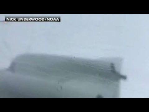 NOAA's Hurricane Hunters fly into eye of Irma - YouTube
