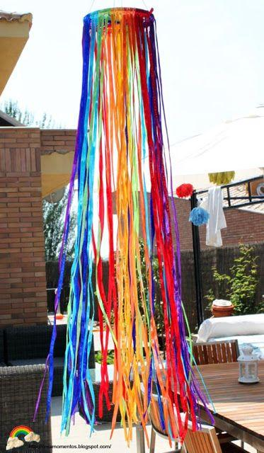 Crea momentos: Fiesta cumple Dani 4 años. Temática arco iris.
