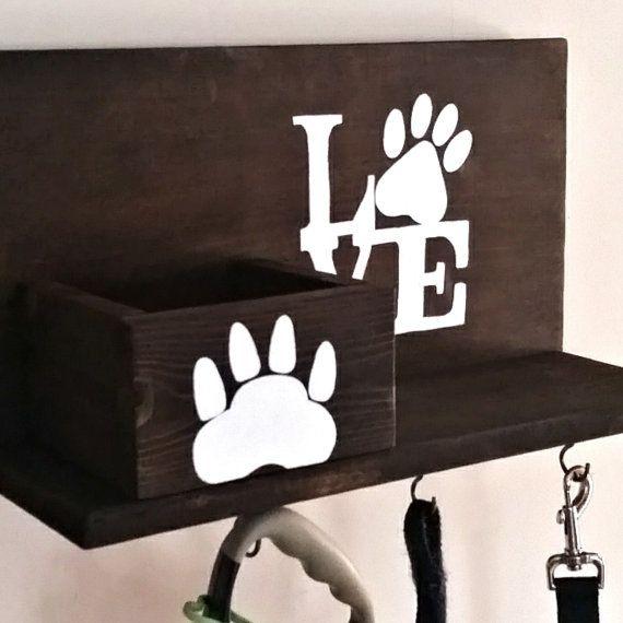 Dog Leash Holder Custom Dog Leash Holder Love Dogs by KaysDekor