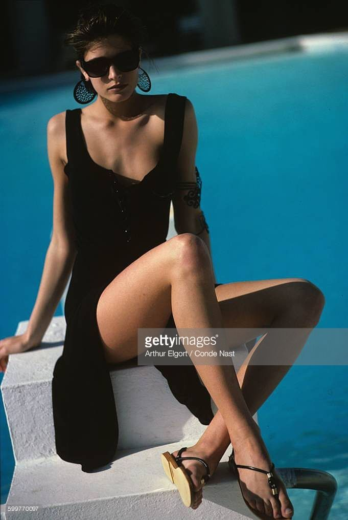 News Photo : Model Stephanie Seymour wearing Patricia Clyne's...