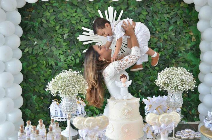 batizado do anjo Davi decorado pela mãe