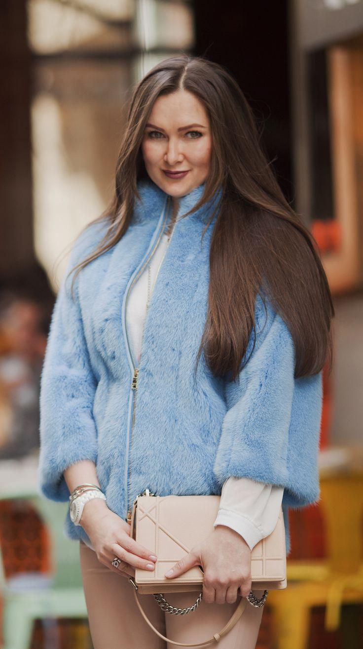 Blue mink fur coat by ADAMOFUR #style #spring #luxury #fur #furstyle #furfashion
